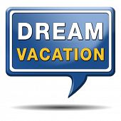 dream vacation travelling towards holiday destination summer winter or spring vacations to exotic paradise places travel the world and enjoy life poster