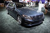 LOS ANGELES, CA - NOVEMBER 20: A Mercedes Benz S550 on exhibit at the Los Angeles Auto Show in Los A