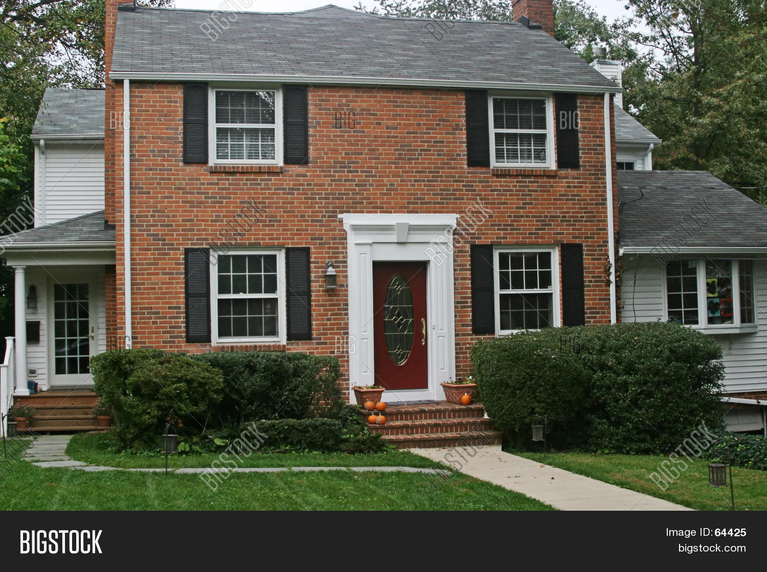 Brick Colonial House Stock Photo Amp Stock Images Bigstock