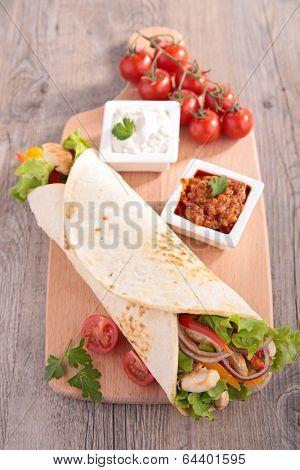 tortilla wrap-fajita