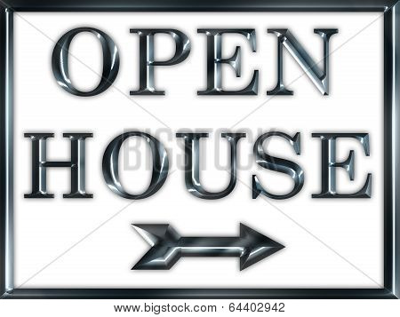 Open House Real Estate Sign