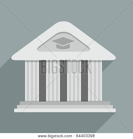 minimalistic illustration of an academy temple building, eps10 vector