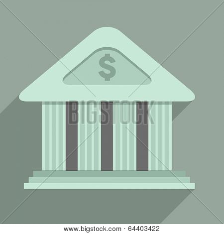 minimalistic illustration of a bank temple building, eps10 vector