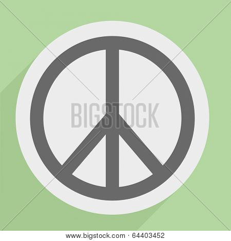 minimalistic illustration of a peace icon, eps10 vector