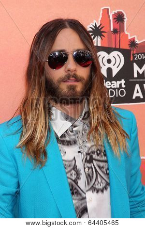 LOS ANGELES - MAY 1:  Jared Leto at the 1st iHeartRadio Music Awards at Shrine Auditorium on May 1, 2014 in Los Angeles, CA