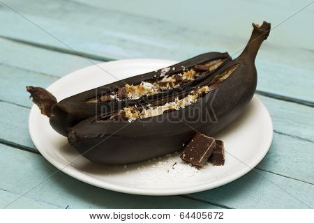 Chocolate Baked Banana Boats