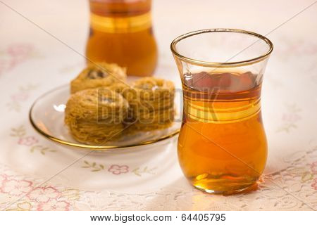 Baklava and sulemani tea