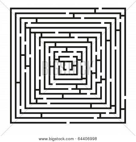 Square Labyrinth Puzzle