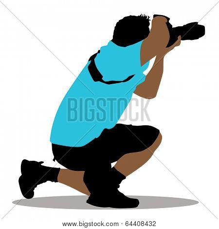 An image of a kneeling photographer.
