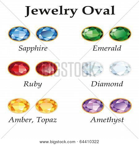 Jewelry Oval. Isolated Objects