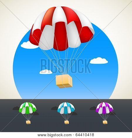 Parachute with sending.