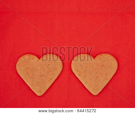 a couple of homemade heart shaped cookies