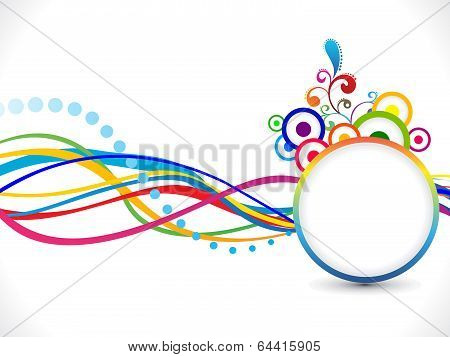 Abstract Rainbow Line Wave Explode