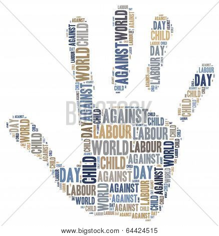Word Cloud Related To World Day Against Child Labour