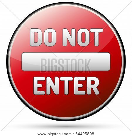 Do Not Enter - one way