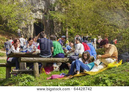 People Picnicking