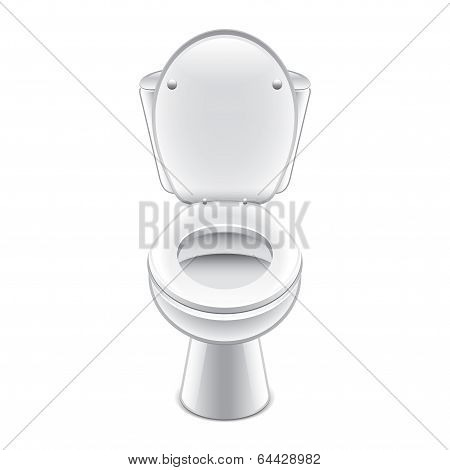 Toilet Bowl Vector Illustration