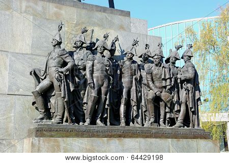 Sculptural Group Of Russian Generals Which Fought With Napoleon In Moscow