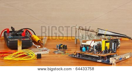 Workplace tools and electronics parts master