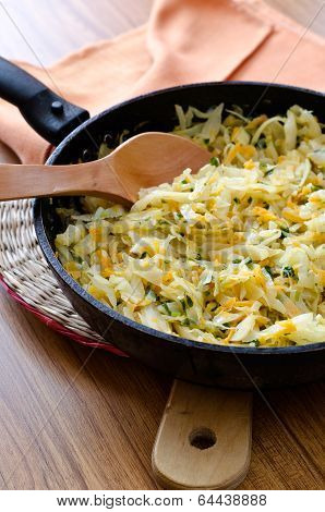 Cabbage In A Frying Pan