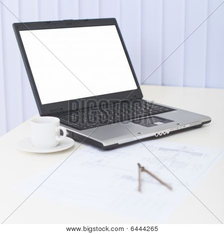 Business Still-life - Laptop On A Table At Office