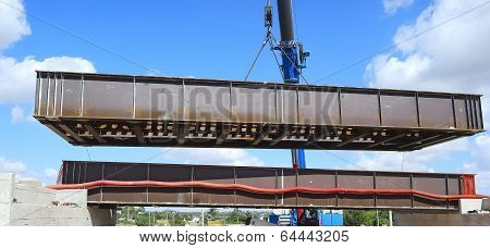 launch in COR-TEN steel bridge crane