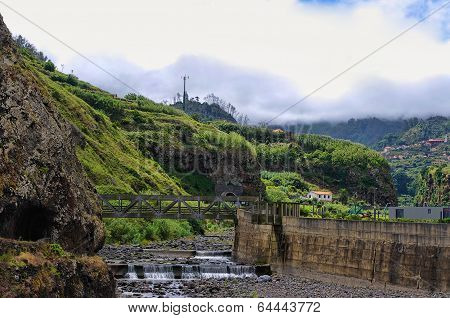 Dry Riverbed In Ponta Delgada On Madeira Island, Portugal