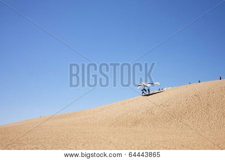 Hang Gliding from Sand Dunes
