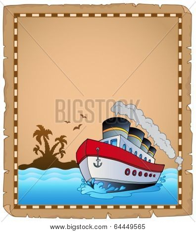 Parchment with travel theme 1 - eps10 vector illustration.