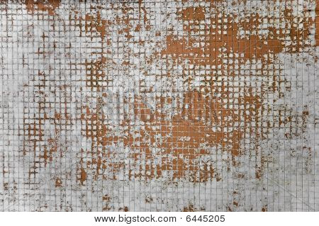 Random Grunge Background With Multiple Red And White Tiles.