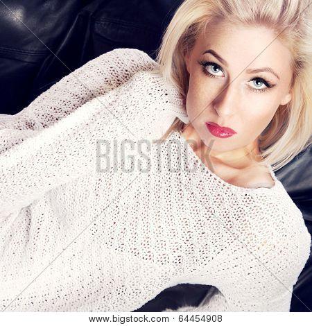 Sexy Blonde Lady Posing.
