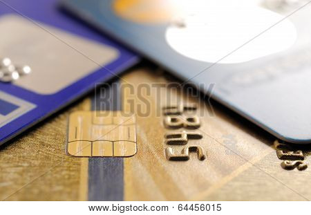 Credit cards background.