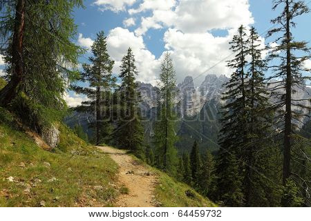 Mountain landscape in the dolomites