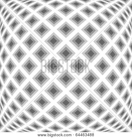 Design Monochrome Warped Diamond Pattern