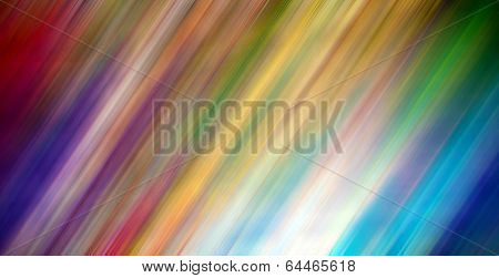 Abstract illustration background texture of color gradient wall, flat floor, light ceiling and sides from metal in empty spacious fairy room interior with vivid soap stains like bright paint diffusion