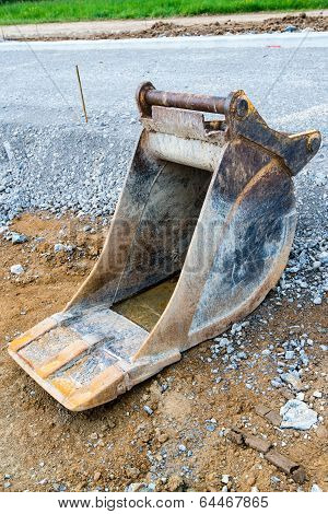 Spare shovel of an excavator
