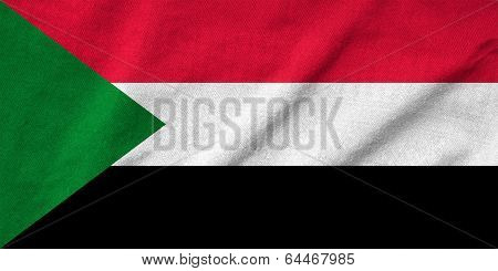 Ruffled Sudan Flag