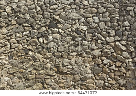 Texture of ancient stone wall.