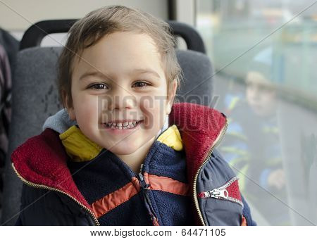 Child Traveling By Bus