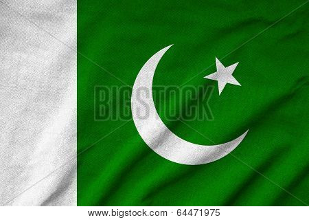 Ruffled Pakistan Flag