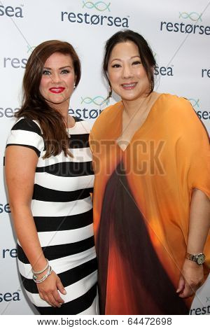 LOS ANGELES - MAY 3:  Susan Ward, Patti Pao  (RESTPRSEA Founder/CEO) at the RESTORSEA Gifting of Skin Care Product at NEMO on May 3, 2014 in West Hollywood, CA