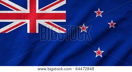 Ruffled New Zealand Flag
