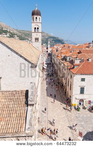 Placa, Main Street In Dubrovnik Old Town