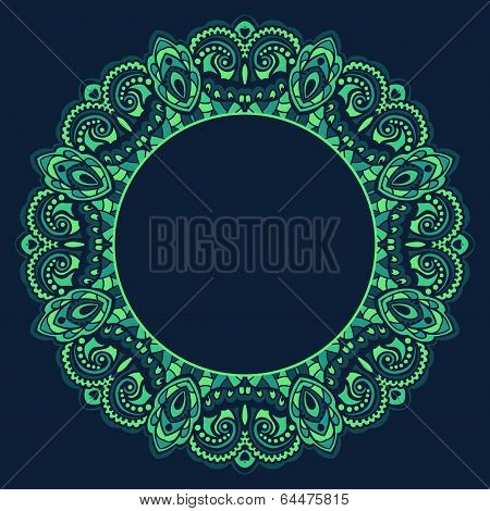 Abstract ornate frame. Element for design