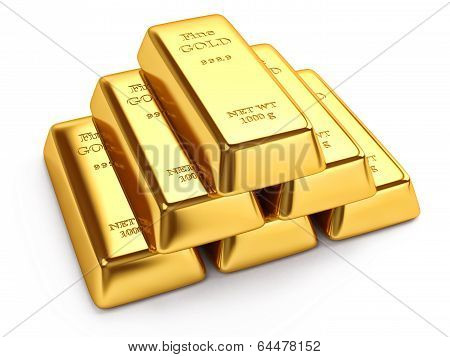Group of gold ingots