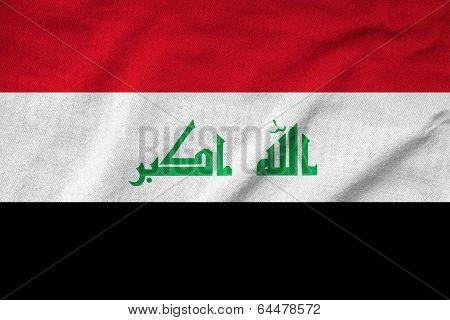 Ruffled Iraq Flag