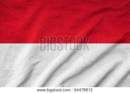 Ruffled Indonesia Flag