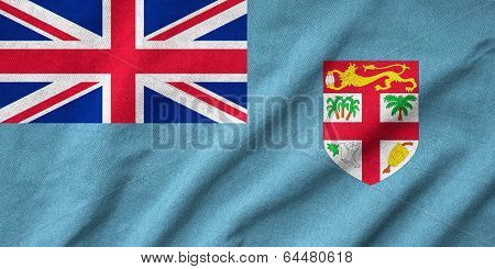 Ruffled Fiji Flag
