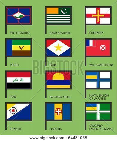 Flags flat set-17