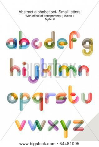 Abstract alphabet set - Small letters ( eps 10 ) style 3